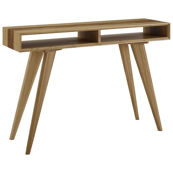 Azara Tiger Console Table With Tiger Exotic Inlay, Caramelized