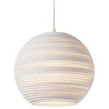 Moon White Scraplight Pendant Light