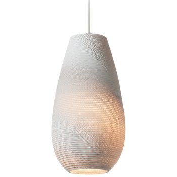 Drop White Scraplight Pendant