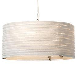 Drum White Scraplight Pendant