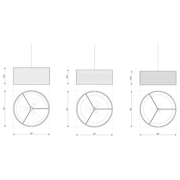 Drum White Scraplight Pendant