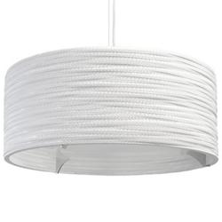 Drum White Scraplight Pendant (Medium/E26 Medium) - OPEN BOX