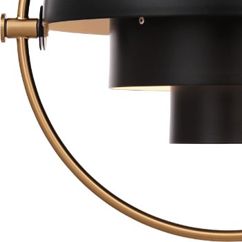 Shown in Charcoal Black with Brass
