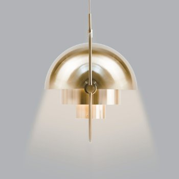 Shown in Sea Grey with Brass, Rose Dust with Brass, Polished Brass finish, in use