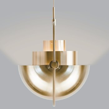 Shown in Rose Dust with Brass finish, in use