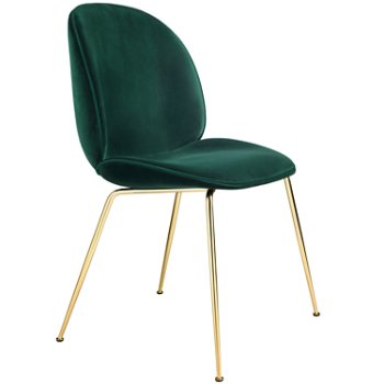 Beetle Upholstered Dining Chair Steel Base