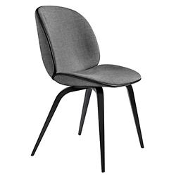 Beetle Upholstered Dining Chair Wood Base