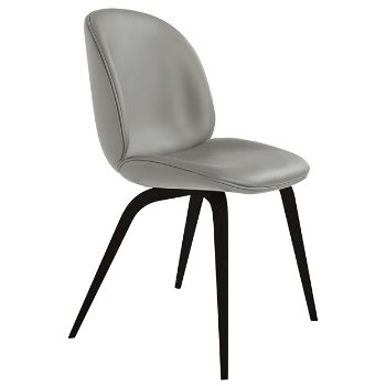 Shown in Eros 27 Silver fabric, Blackstained Beech base