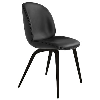 Shown in Sierra Leather 56 Black fabric, Blackstained Beech base