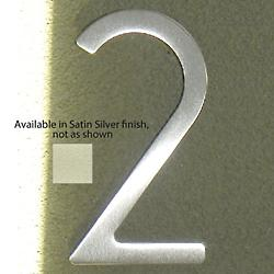 House Numbers (Two/Satin Silver/5 Inch) - OPEN BOX RETURN