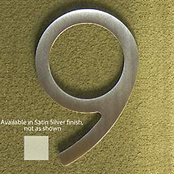 House Numbers (Nine/Satin Silver/5 Inch) - OPEN BOX RETURN
