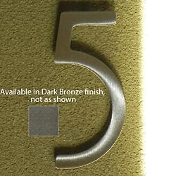 House Numbers (Five/Dark Bronze/8 Inch) - OPEN BOX RETURN