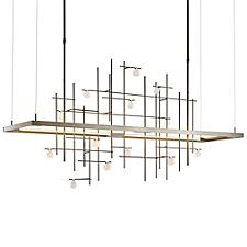 Spring LED Linear Chandelier Light