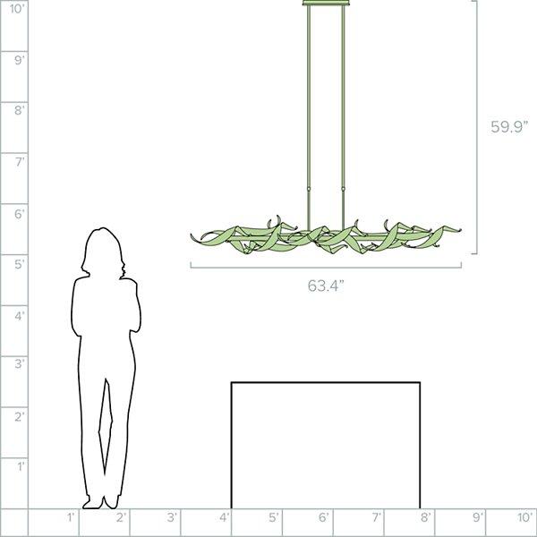 Double Folio LED Linear Suspension
