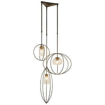 Shown in Dark Smoke finish with Seeded Clear Glass color, Standard