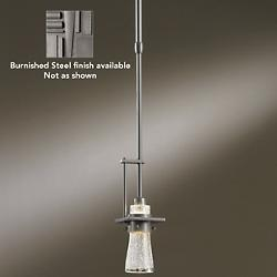 Erlenmeyer Pendant (Clear Bubble/Steel/Standard) - OPEN BOX