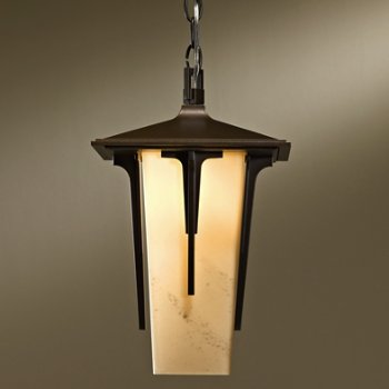 Shown in Coastal Bronze finish, Stone shade, Small size