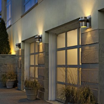 Twilight Large Coastal Outdoor Wall Sconce, in use