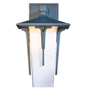 Shown with Pearl shade, in Coastal Burnished Steel finish, Large size