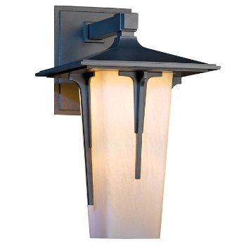 Shown with Opal shade, in Coastal Burnished Steel finish, Large size
