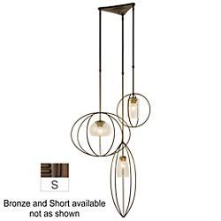 Treble Multi Light Pendant (Clear/Bronze/Short) - OPEN BOX