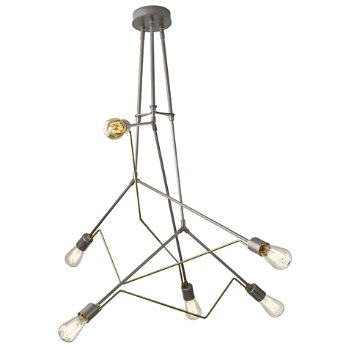 Shown in Burnished Steel with Soft Gold accent finish
