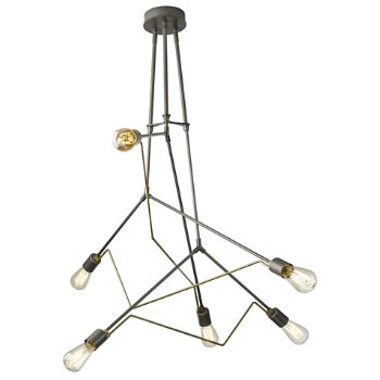 Shown in Natural Iron with Soft Gold accent finish