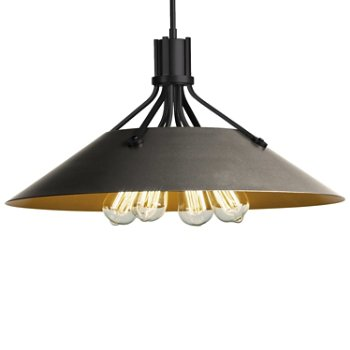 Shown in Black finish with Natural Iron Shade finish