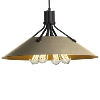 Shown in Black finish with Soft Gold Shade finish