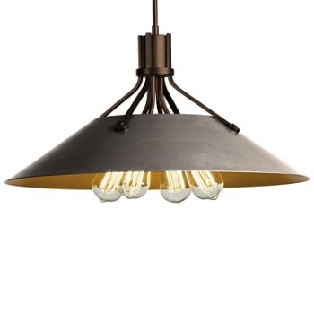 Shown in Bronze finish with Burnished Steel Shade finish
