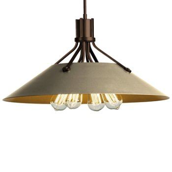 Shown in Bronze finish with Soft Gold Shade finish