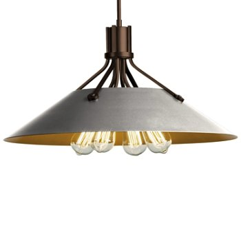 Shown in Bronze finish with Vintage Platinum Shade finish