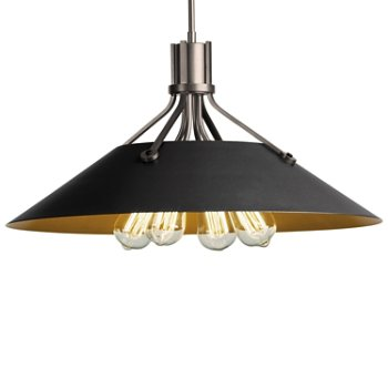 Shown in Burnished Steel finish with Black Shade finish