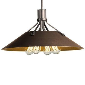 Shown in Burnished Steel finish with Bronze Shade finish