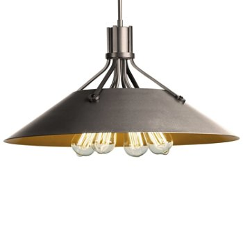 Shown in Burnished Steel finish with Burnished Steel Shade finish