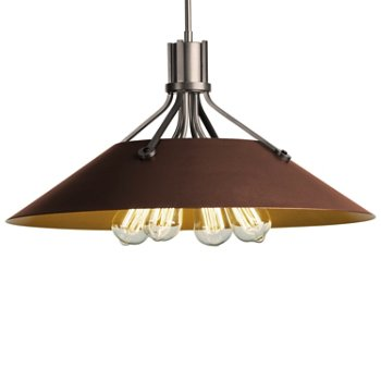 Shown in Burnished Steel finish with Mahogany Shade finish