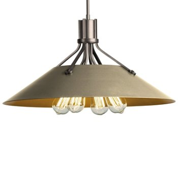 Shown in Burnished Steel finish with Soft Gold Shade finish