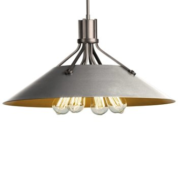 Shown in Burnished Steel finish with Vintage Platinum Shade finish