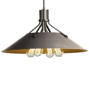 Shown in Natural Iron finish with Burnished Steel Shade finish