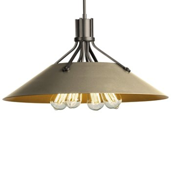 Shown in Natural Iron finish with Soft Gold Shade finish
