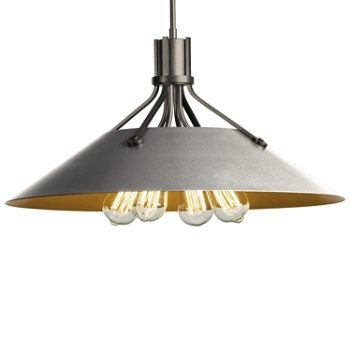 Shown in Natural Iron finish with Vintage Platinum Shade finish