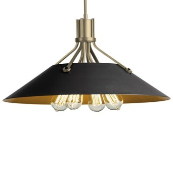 Shown in Soft Gold finish with Black Shade finish