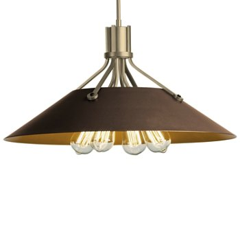 Shown in Soft Gold finish with Bronze Shade finish
