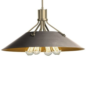 Shown in Soft Gold finish with Burnished Steel Shade finish