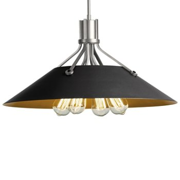 Shown in Vintage Platinum finish with Black Shade finish