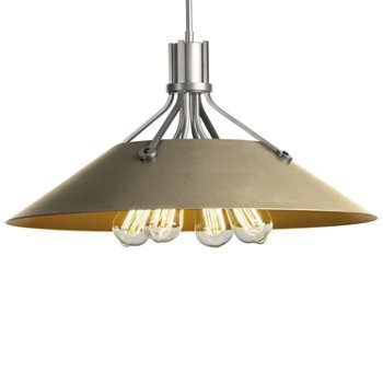 Shown in Vintage Platinum finish with Soft Gold Shade finish
