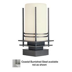 Banded Coastal Outdoor Pier Mount (Opal/Steel/LED) - OPEN BOX
