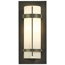 Banded Aluminum Outdoor Sconce (Opal/Dark/Medium) - OPEN BOX
