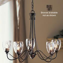 Trellis Five Arms Chandelier (Bronze) - OPEN BOX