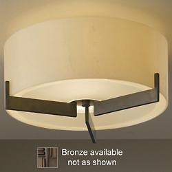 Axis Small Semi-Flushmount (Opal/Bronze) - OPEN BOX RETURN